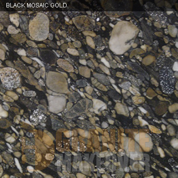 Granite Colors : BLACK MOSAIC GOLD