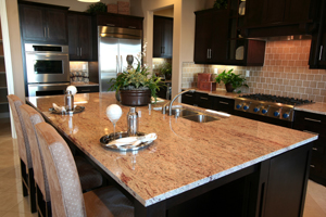 Kitchen Countertop Dark Cabinets