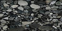 BLACK MOSAIC GOLD DJ Granite and Marble   (IL)