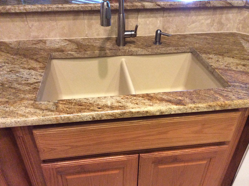 granite countertops undermount Sink in San Antonio Texas