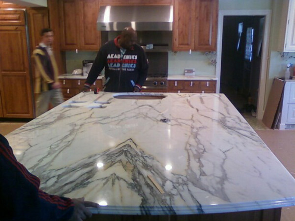 colonial granite richmond va marble island Granite Makeover