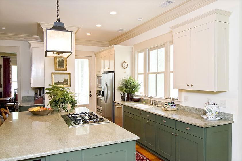 granite countertops green cabinets  Tampa FL,