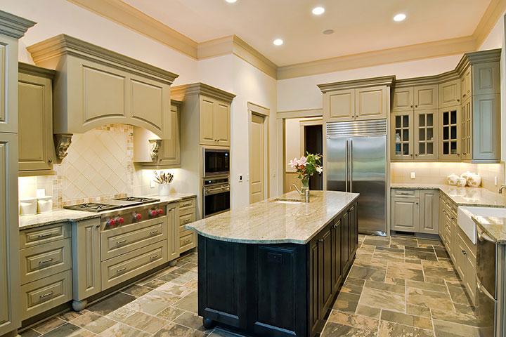 granite countertops mixed cabinets Tampa Florida,