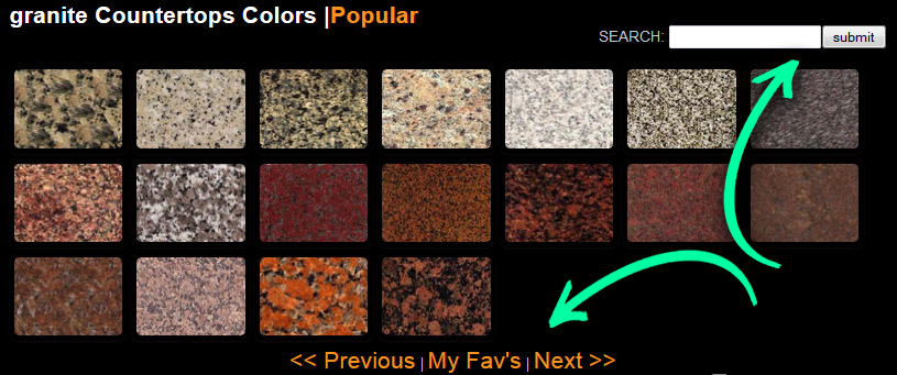 Stone Countertops Color Search