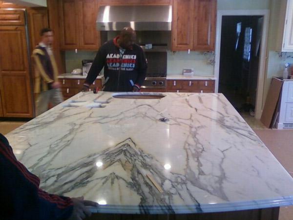Colonial Granite Richmond Va Marble Island Makeover